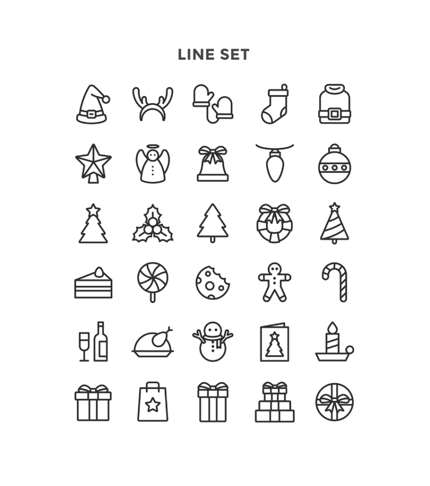 Free Christmas Special Icon Pack (.Ai + .Sketch) скачать бесплатно