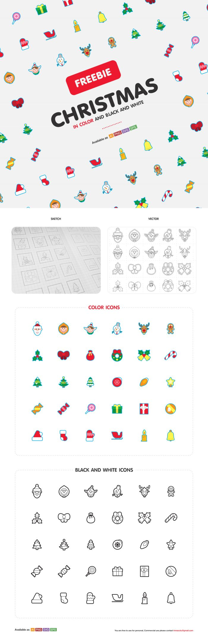 Christmas Icons (.Eps + .Ai + .Png) скачать бесплатно