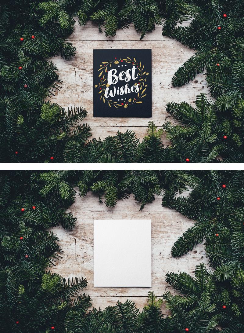 Christmas Card Mockup (.Psd) скачать бесплатно