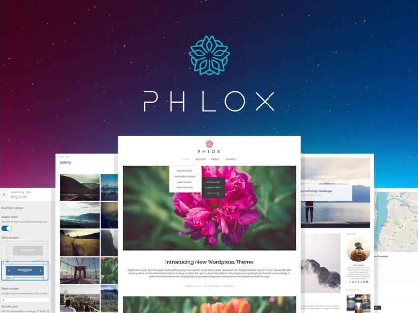 Phlox WordPress Theme (.PHP + .CSS) скачать бесплатно