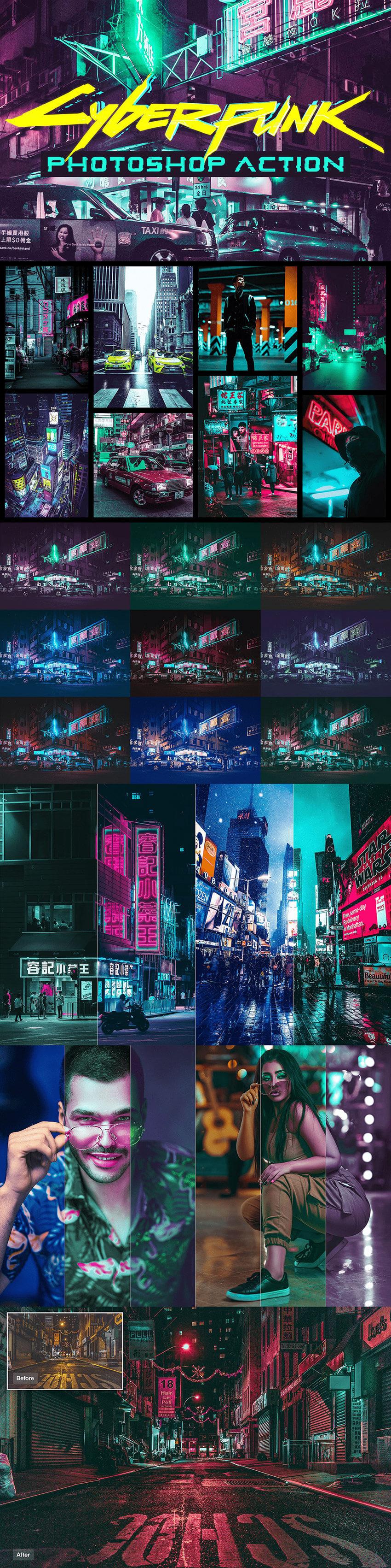 Cyberpunk Photoshop Action (.Atn) скачать бесплатно