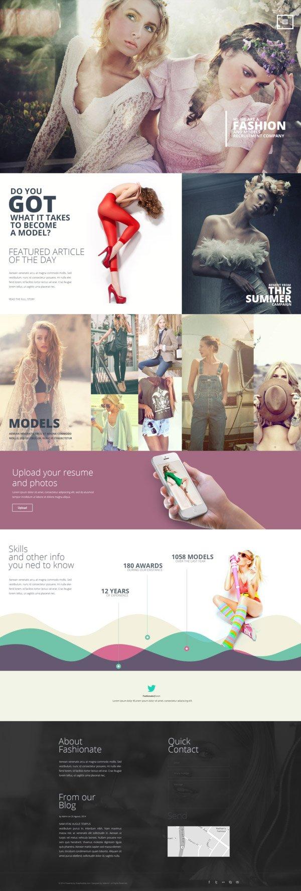 Fashion шаблон сайта (.Psd) скачать бесплатно