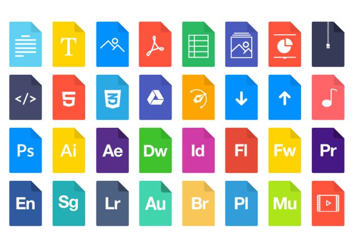 FileTypes иконки (.Psd) скачать бесплатно