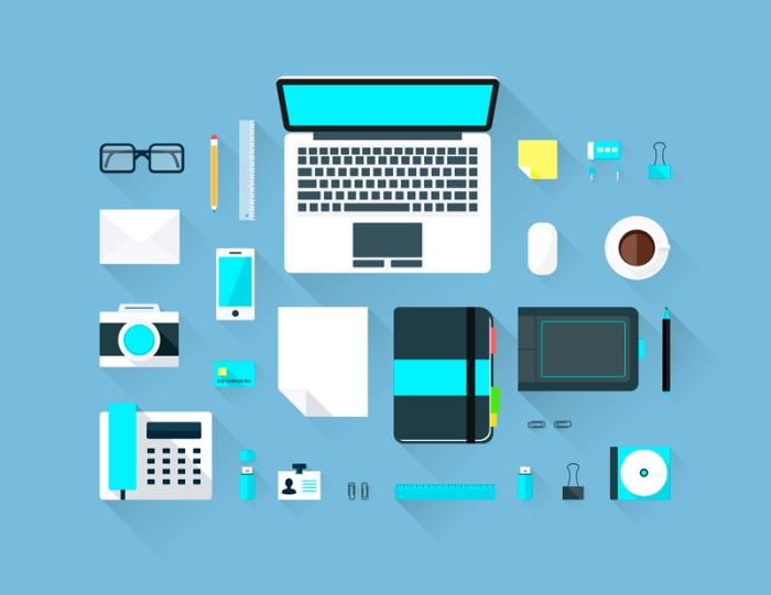 Flat Workspace (.Ai +.Psd) скачать бесплатно