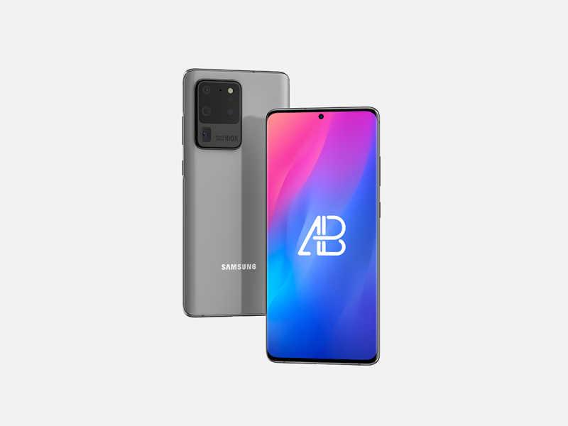 Samsung Galaxy S20 Ultra Mockup (.Psd) скачать бесплатно