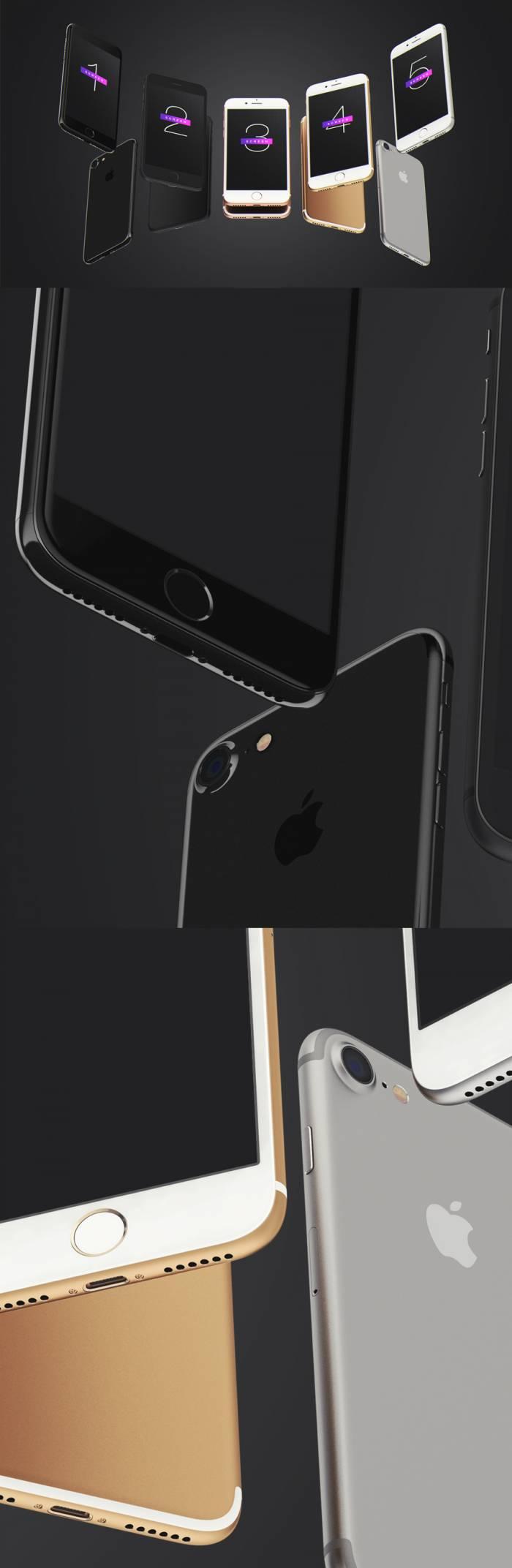 iPhone 7 UI Mockup (.Psd) скачать бесплатно