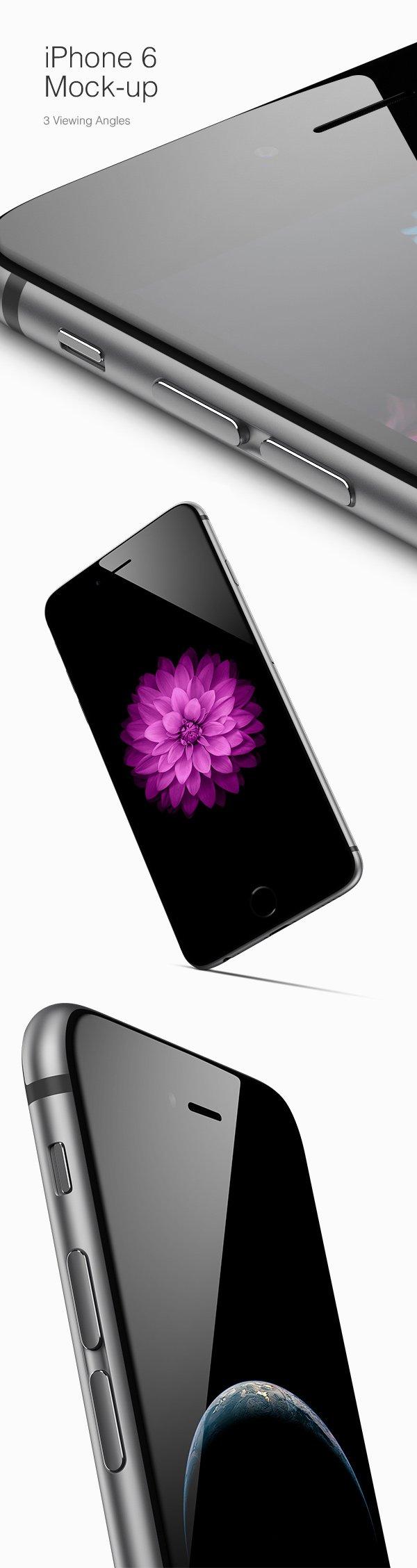 iPhone 6 Mockups (.Psd) скачать бесплатно
