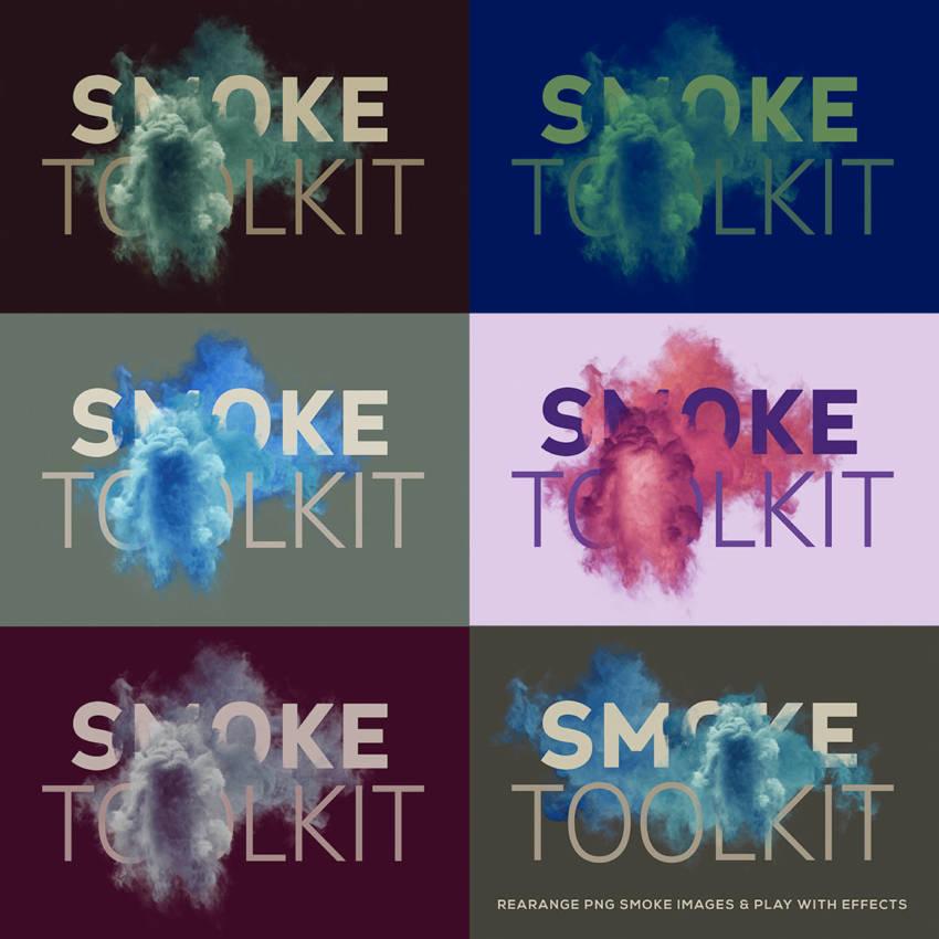 Smoke Toolkit Extra Shapes (.Png + .Psd) скачать бесплатно