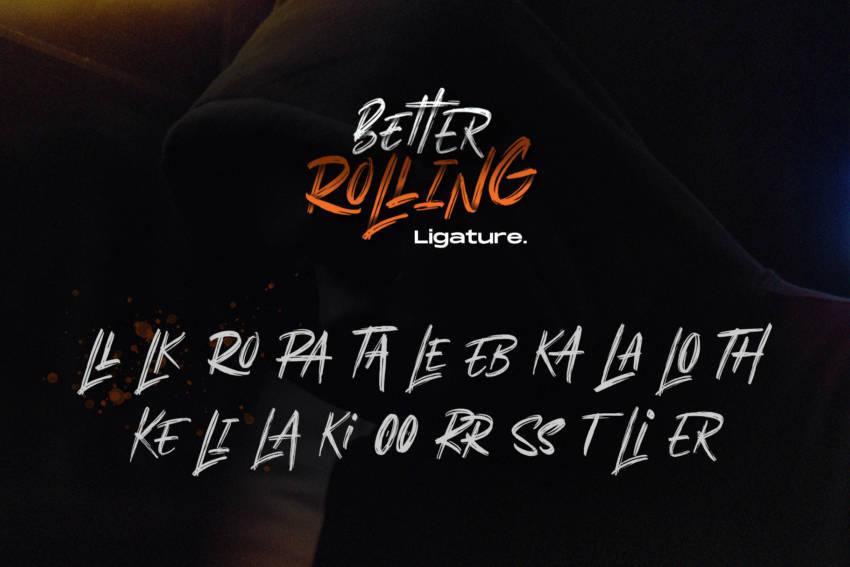 Шрифт Better Rolling Brush скачать бесплатно
