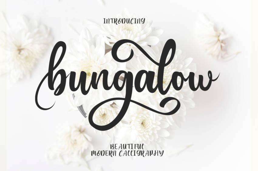 Шрифт Bungalow Script скачать бесплатно