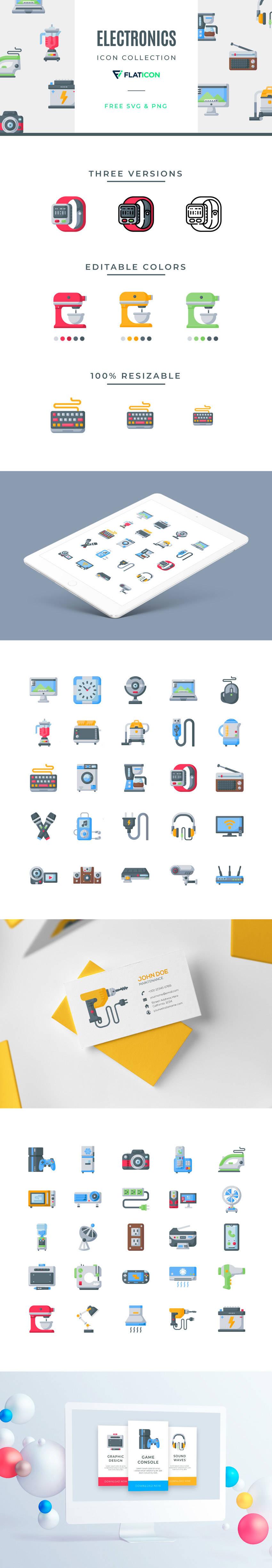 Free Electronics Vector Icons (.Png + .Svg) скачать бесплатно