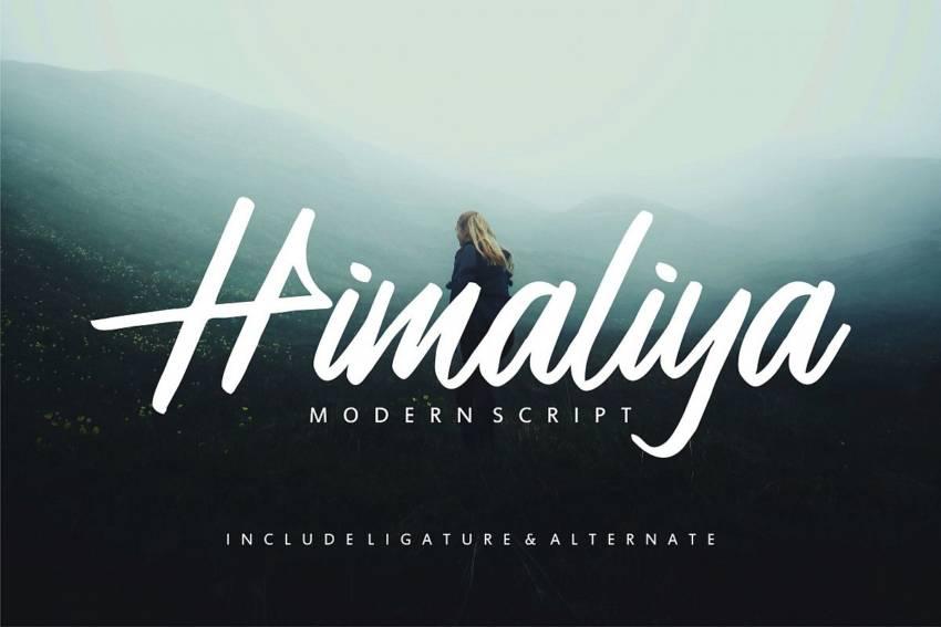Шрифт Himaliya скачать бесплатно
