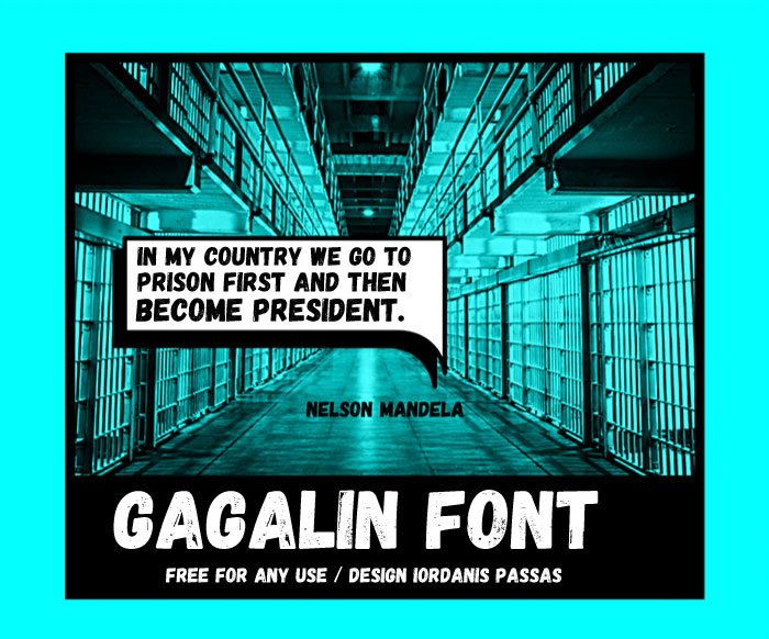 Шрифт Gagalin скачать бесплатно
