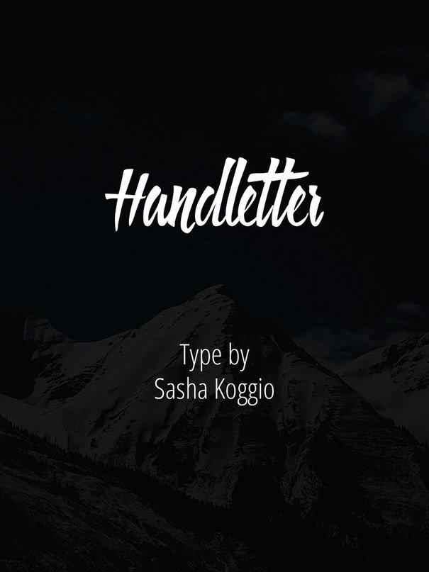 Шрифт Handletter скачать бесплатно