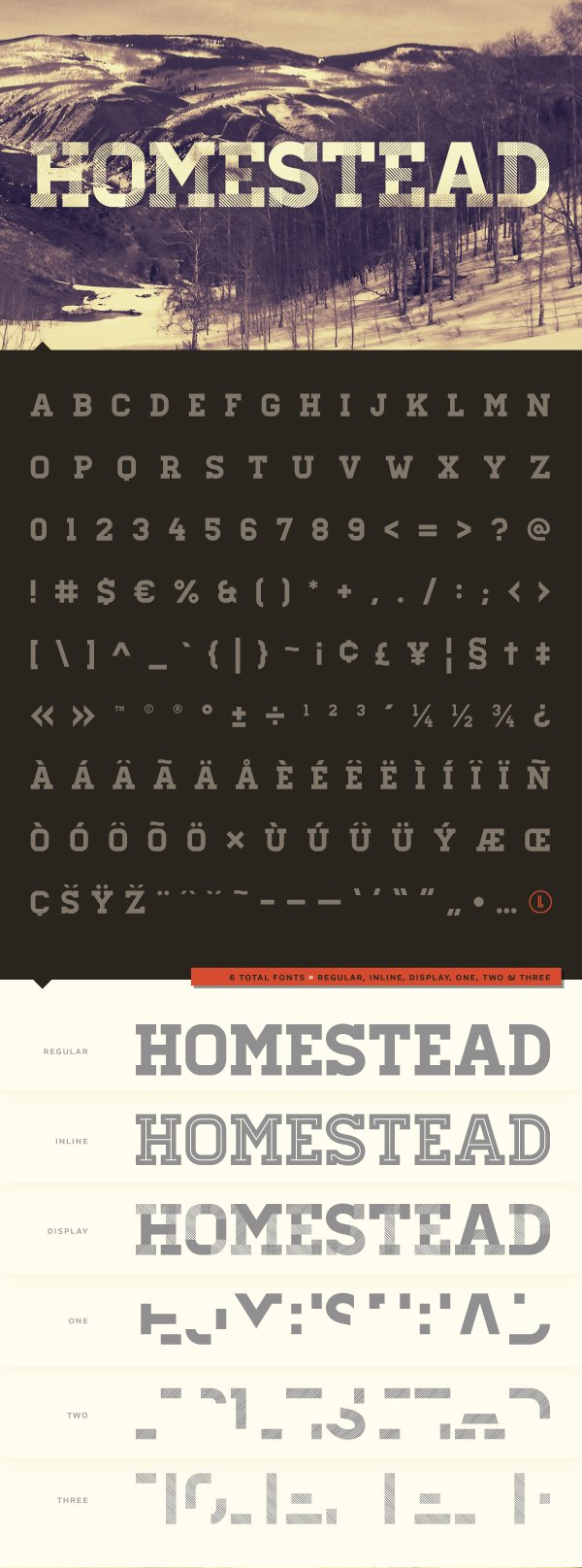 Шрифт Homestead скачать бесплатно