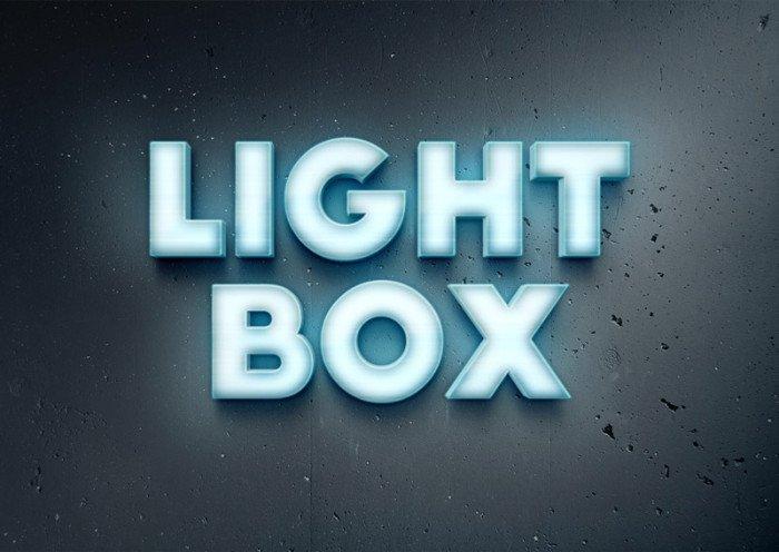 Lightbox Text Effect (.Psd) скачать бесплатно
