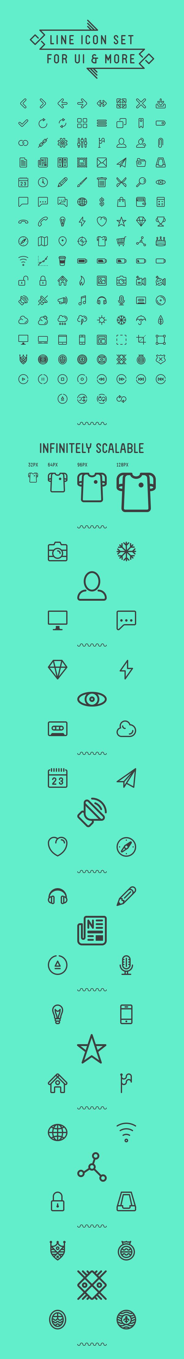 LineIcon Set UI (.Ai +.Psd) скачать бесплатно