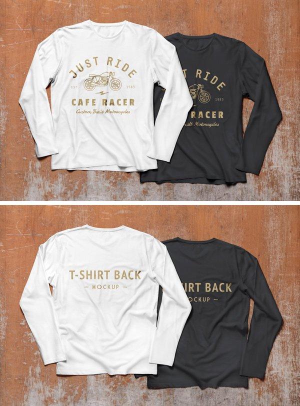 Long Sleeve T-Shirt MockUp (.Psd) скачать бесплатно