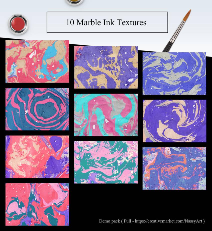 10 Free Marble Ink Paper Textures (.Jpg) скачать бесплатно