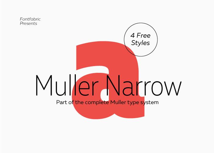 Шрифт Muller Narrow скачать бесплатно