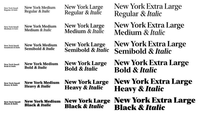 Шрифт New York скачать бесплатно