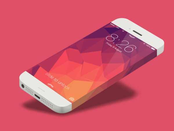 Minimal iPhone concept template (.Psd) скачать бесплатно