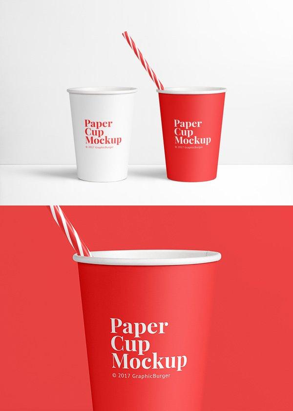 Paper Cup MockUp (.Psd) скачать бесплатно
