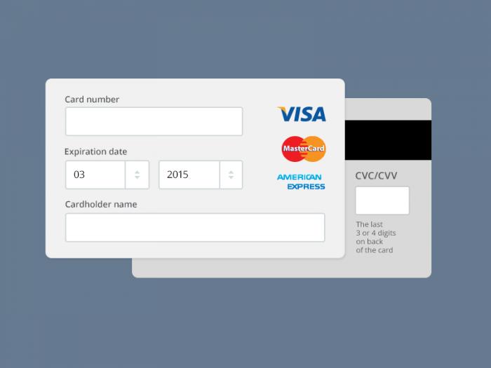Payment form (.Psd) скачать бесплатно