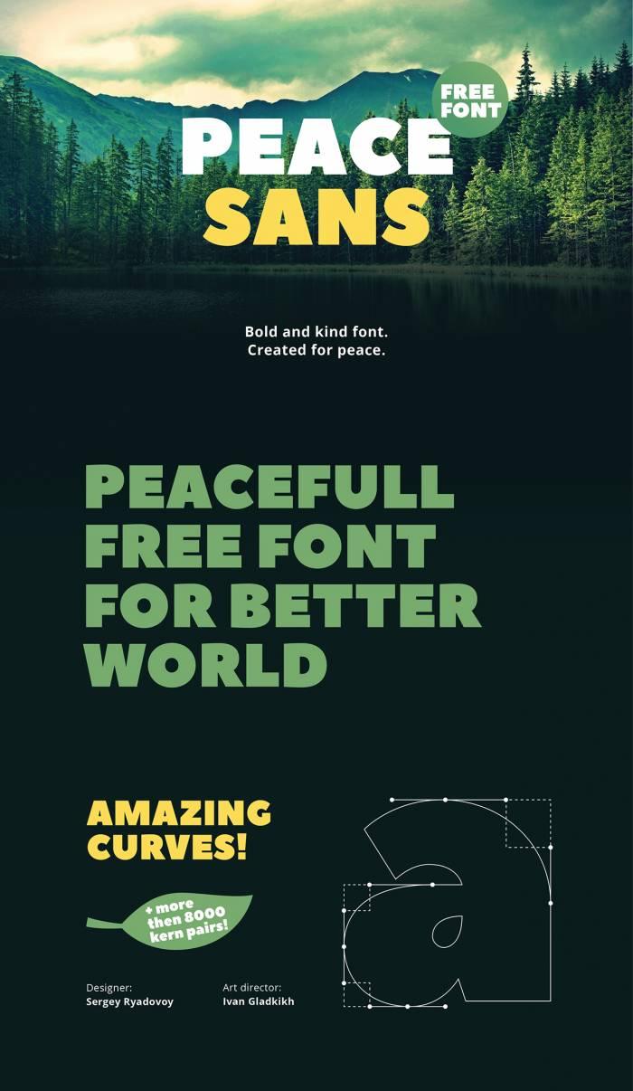 Шрифт Peace Sans скачать бесплатно