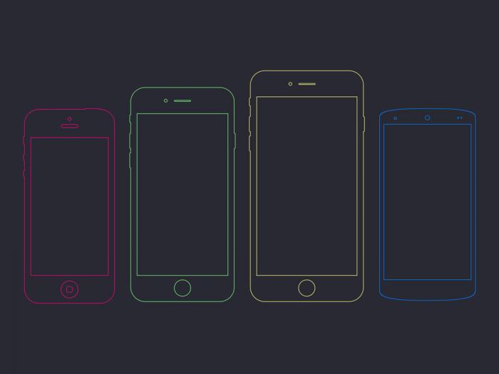 Phone Frames (.Psd) скачать бесплатно