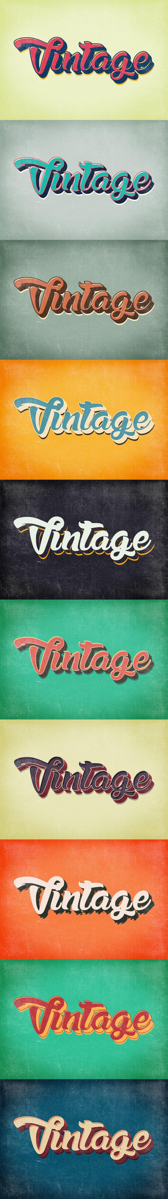 10 Vintage & Retro Text Styles (.Psd) скачать бесплатно