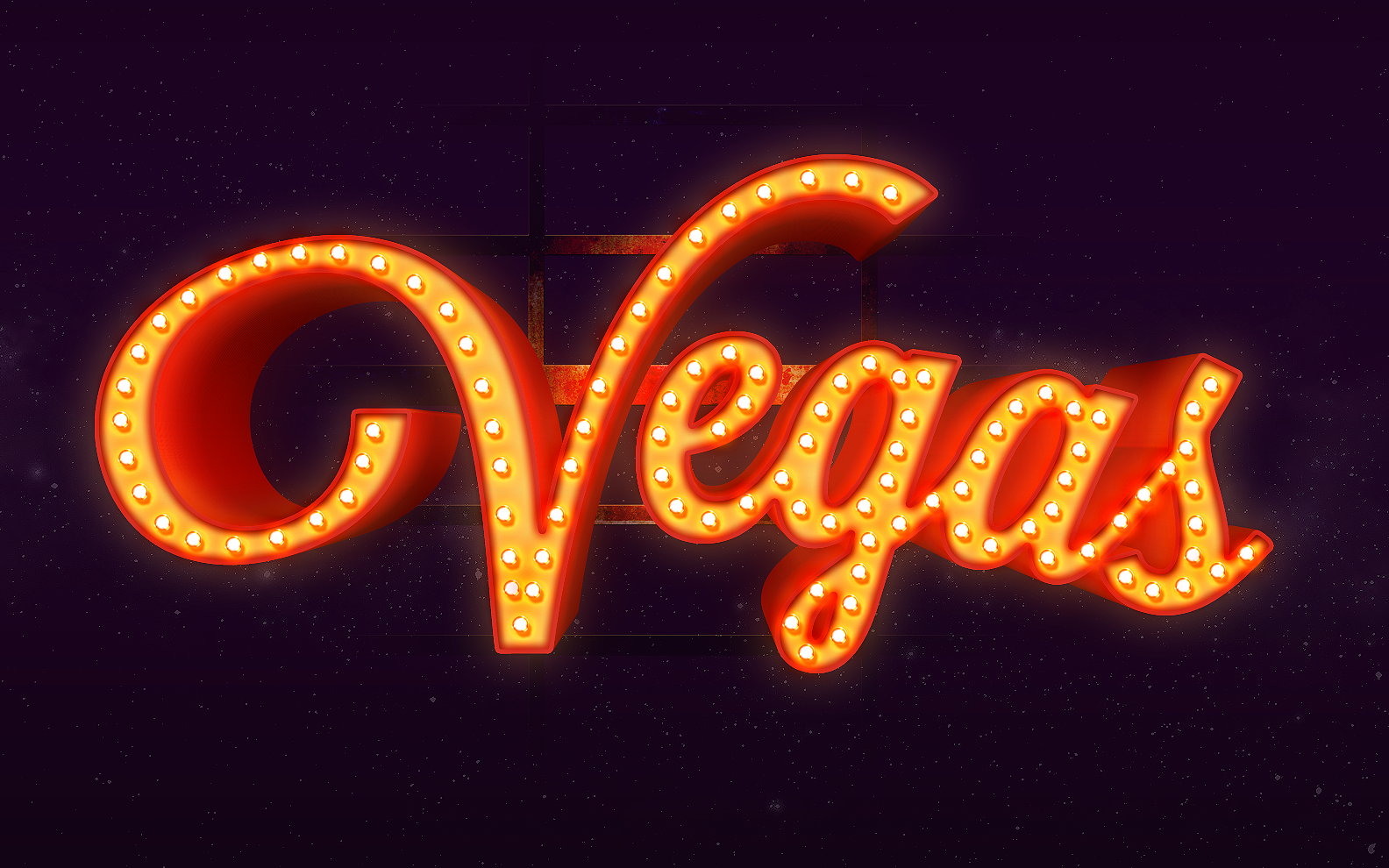 PixelMustache-Vegas-Text-Effect