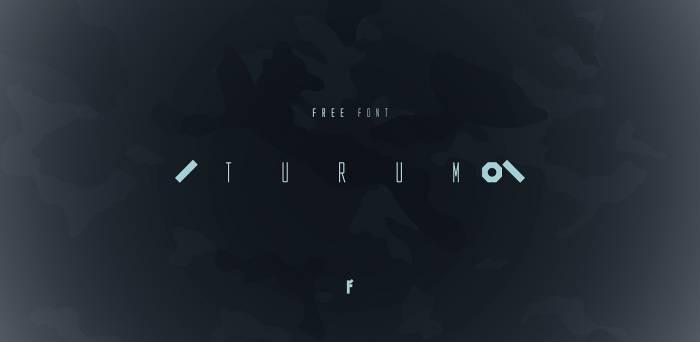 Шрифт Turum скачать бесплатно