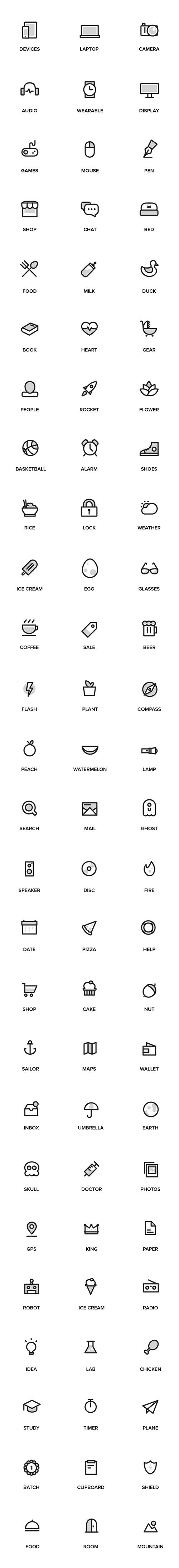 78 иконок Random Stuff (.Ai) скачать бесплатно