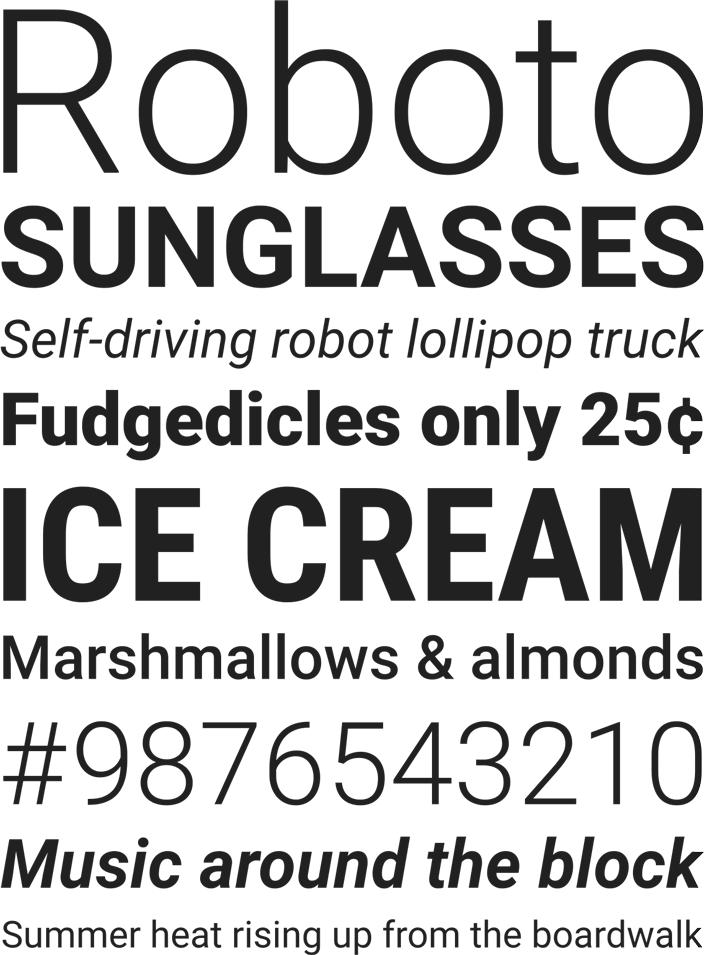Шрифт Roboto скачать бесплатно