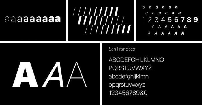 Шрифт San Francisco скачать бесплатно