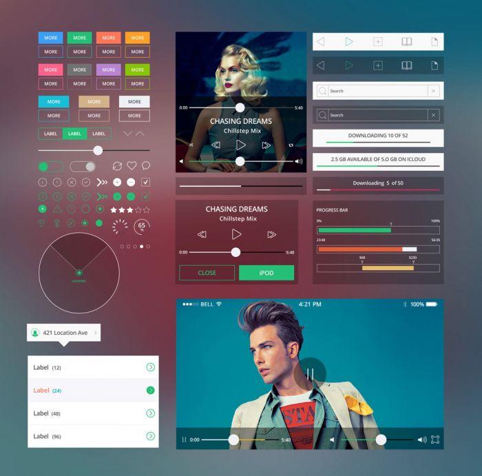 Shapes Mobile Ui Kit (.Psd) скачать бесплатно