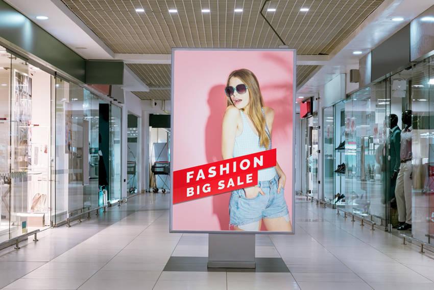 Shopping Center Neon Box Mockup (.Psd) скачать бесплатно