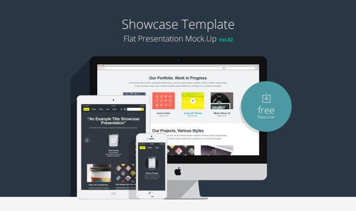 Flat Responsive Showcase (.Psd) скачать бесплатно