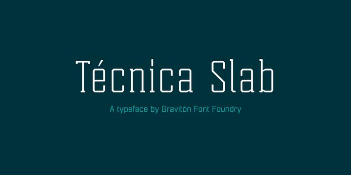Шрифт Tecnica Slab скачать бесплатно