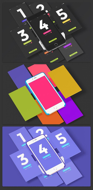 UI iPhone App Presentation Kit (.Psd) скачать бесплатно