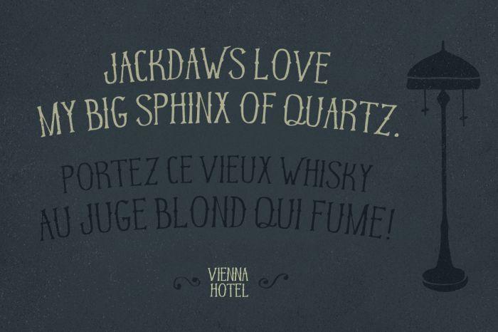 Шрифт Vienna Hotel скачать бесплатно