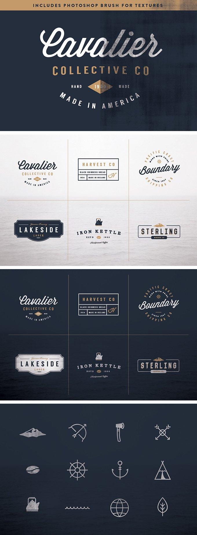 6 Vintage Logo Kit (.Ai) скачать бесплатно