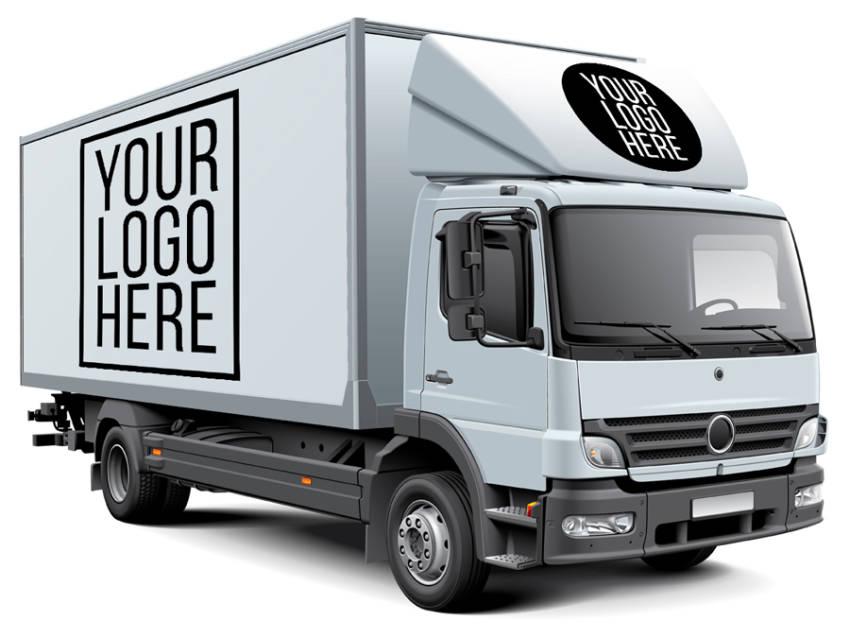 White Box Truck Free Mockup (.Psd) скачать бесплатно