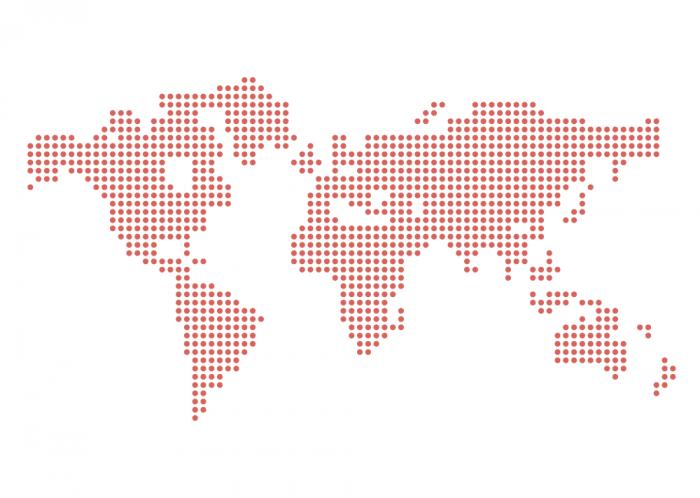 Dotted Vector World Map (.Ai) скачать бесплатно