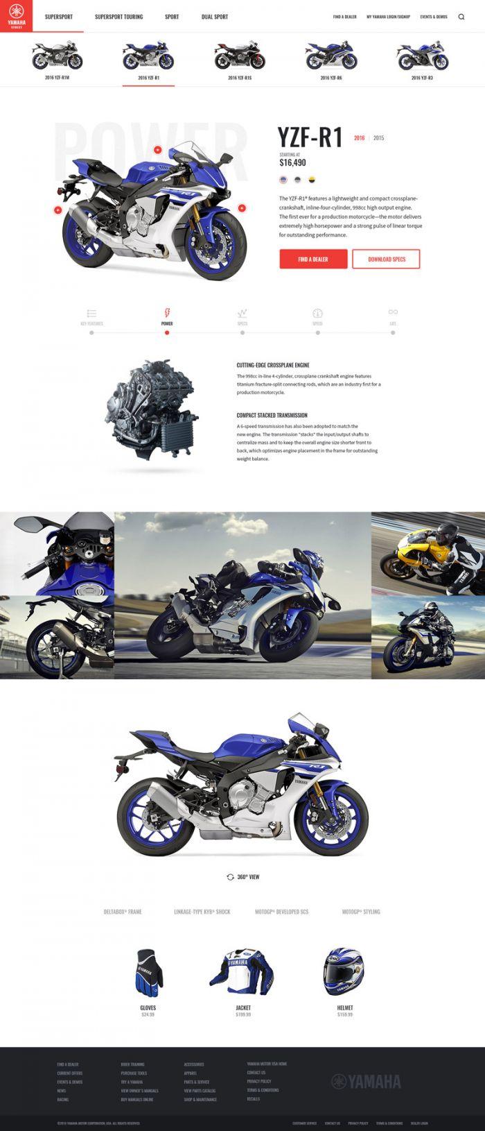 Шаблон страницы сайта Yamaha Street (.Psd) скачать бесплатно