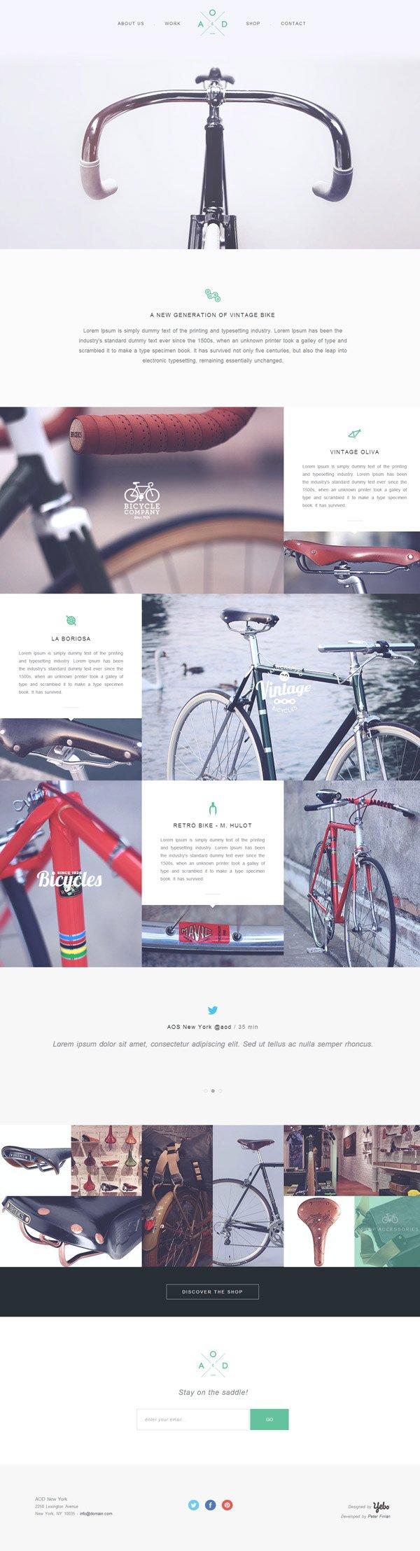 Yebo Bicycle шаблон сайта (HTML5/CSS3) скачать бесплатно