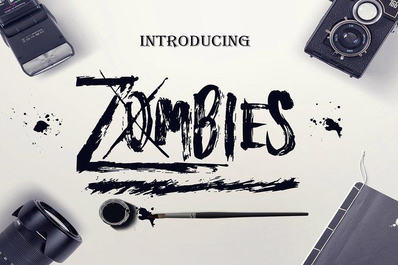 Шрифт Zombies скачать бесплатно