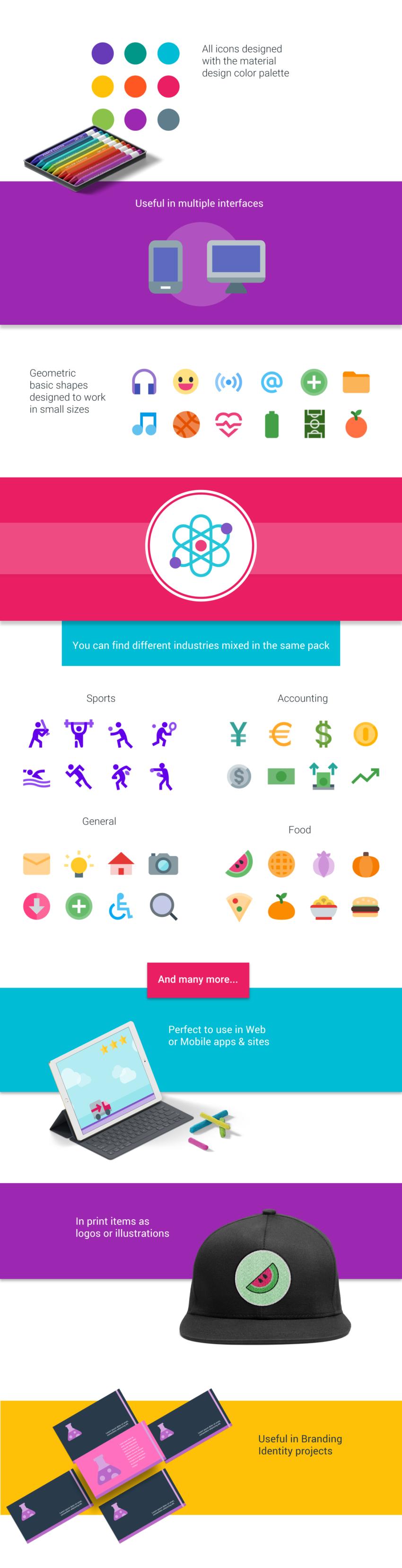 Free 500 Material icons (.Png + .Svg) скачать бесплатно