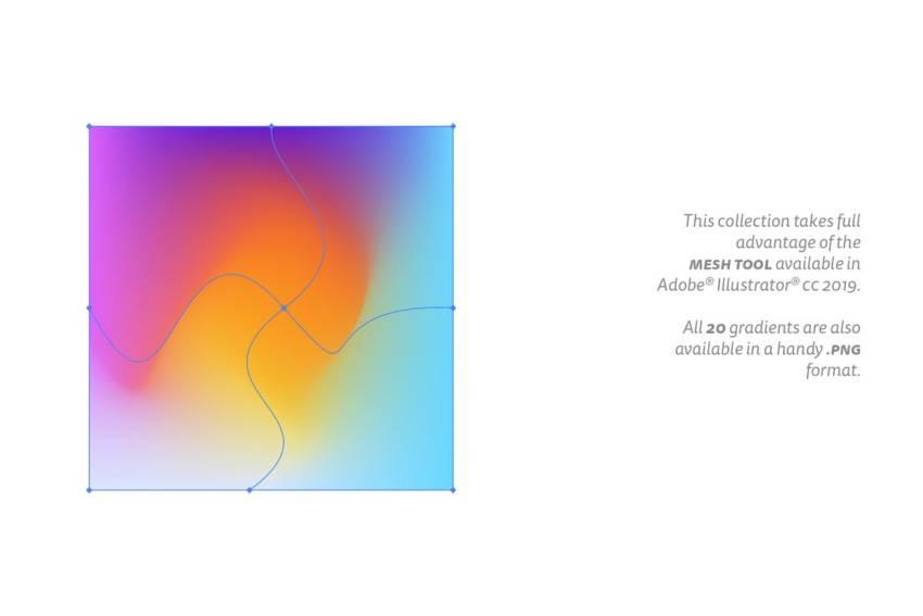 Abstract Gradients (.Ai, .Png) скачать бесплатно